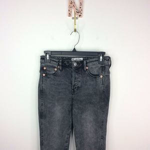 Free People Skinny Jeans Gray Button Fly